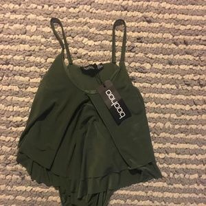 BOOHOO Body suit in Olive Green